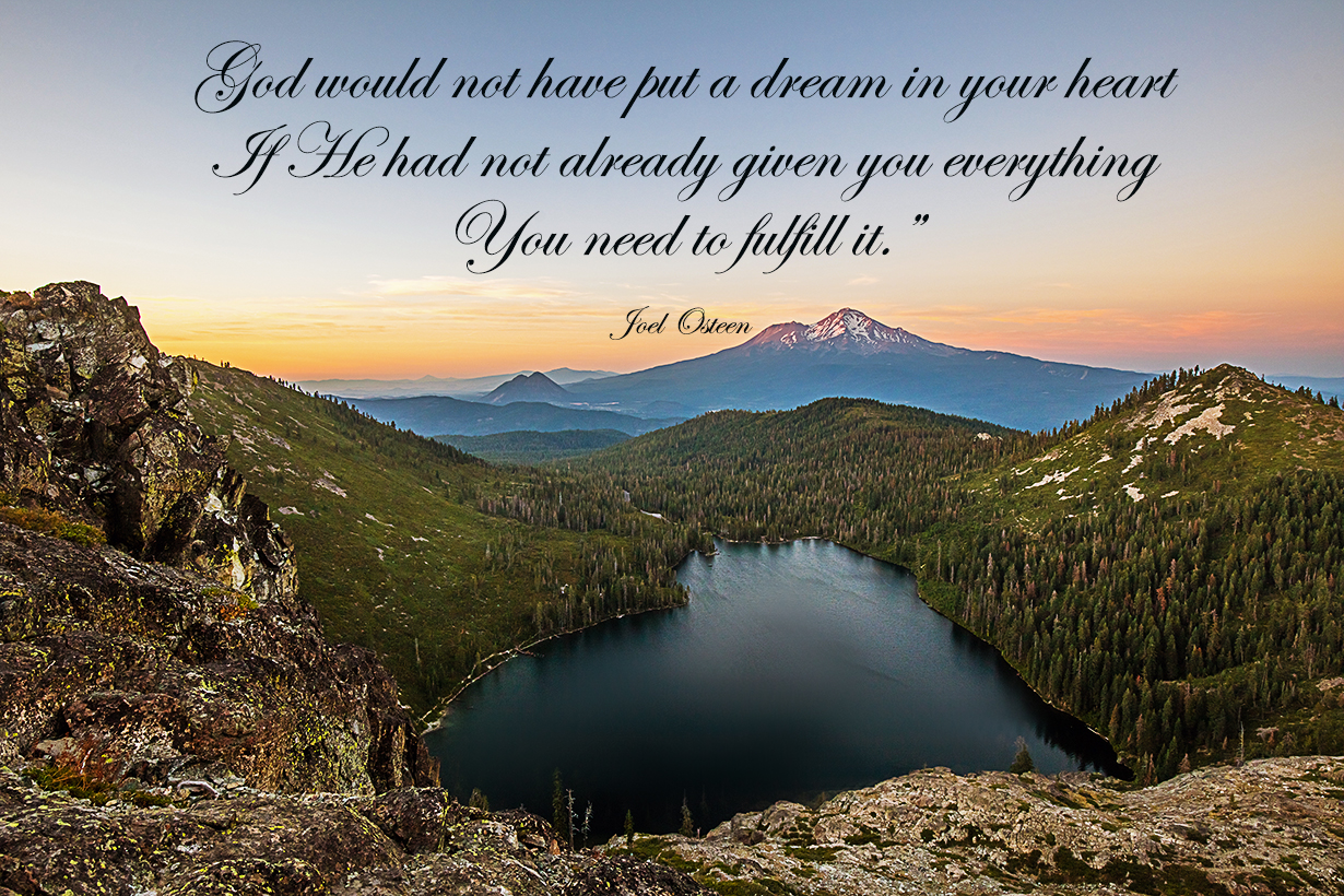 christian wall art - joel osteen quotes fullfil a dream