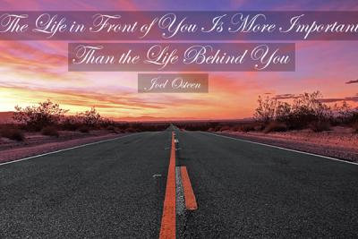 Look Ahead - joel osteen quotes christian art